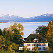 Villa At The Waterfront, Lake Zurich Poster