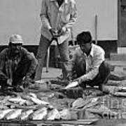Village Fish Market 1 Poster by Bobby Mandal