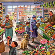 Village Greengrocer  Poster