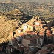 Village Of Speloncatu In Corsica Poster