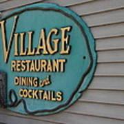 Village Restaurant Poster