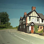 Village Scene In Middle Mayfield, The Rose And Crown Public Poster
