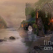 Villages By The Foggy Sea   Poster by Lynn Jackson