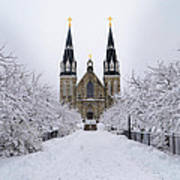 Villanova University In The Snow Poster