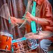 Vince Lateano On Drums Poster