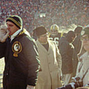 Vince Lombardi On The Sideline Poster