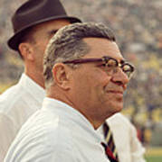 Vince Lombardi Surveying The Field Poster by Retro Images Archive
