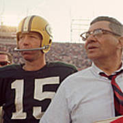 Vince Lombardi With Bart Starr Poster by Retro Images Archive