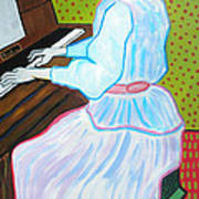 Vincent Van Gogh's Marguerite Gachet Playing At The Piano Poster
