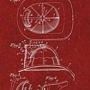 Vintage 1932 Firemans Helmet Patent Poster