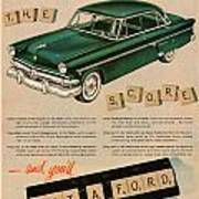 Vintage 1954 Ford Classic Car Advert Poster