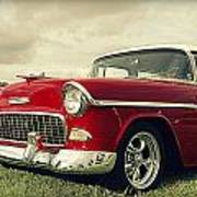 Vintage 1955 Chevy Nomad Poster
