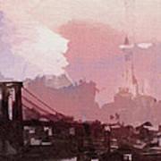 Vintage America Brooklyn 1930 Poster