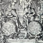 Vintage Antique Map Ornando Vtriqve Dicantvr Poster