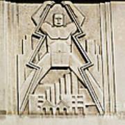 Vintage Art Deco Muscular Man   Poster