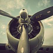 Vintage B-17 Flying Fortress Propeller Poster