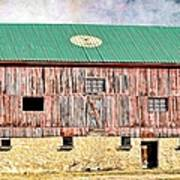 Vintage Barn - Wood And Stone Poster