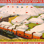 Vintage Barnum And Bailey Poster Poster