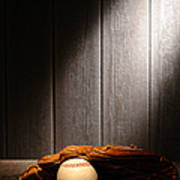 Vintage Baseball Poster by Olivier Le Queinec