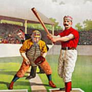 Vintage Baseball Print Poster