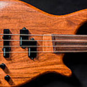 Vintage Bass Guitar Body Poster