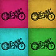 Vintage Bike Pop Art 1 Poster