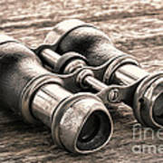 Vintage Binoculars Poster