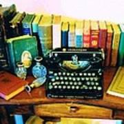 Vintage Books And Typewriter Poster