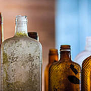 Vintage Bottles Poster by Adam Romanowicz