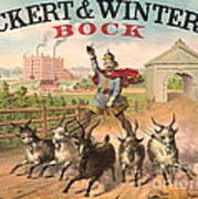 Vintage Brewery Ad 1871 Poster by Padre Art