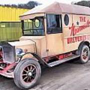 Vintage Brewery Van Poster
