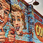 Vintage Building Art Poster