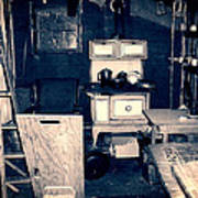 Vintage Cabin Interior Poster