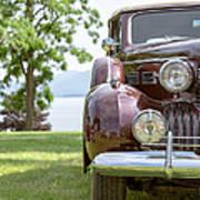 Vintage Caddy At Lake George Poster