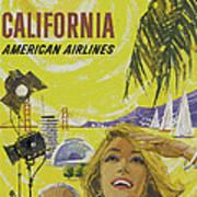 Vintage California Travel Poster Poster