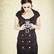 Vintage Camera User Poster