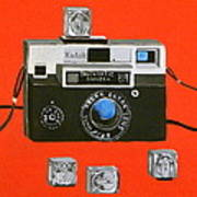 Vintage Camera With Flash Cube Poster