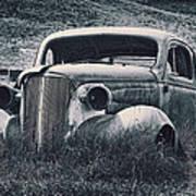 Vintage Car At Bodie Poster by Kelley King