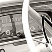 Vintage Car Dashboard Poster