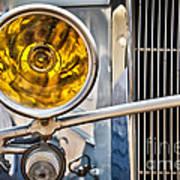 Vintage Car Light Poster