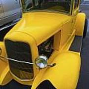 Vintage Car Yellow Poster