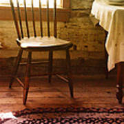 Vintage Chair And Table Poster
