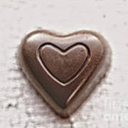 Vintage Chocolate Heart Poster