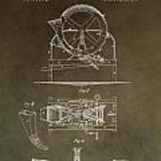 Vintage Cider Mill Patent Poster