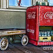 Vintage Coca-cola And Rocket Wagon Poster