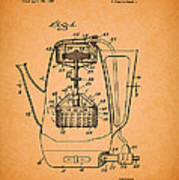 Vintage Coffee Maker Patent 1958 Poster