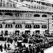Vintage Comiskey Park - Historical Chicago White Sox Black White Picture Poster