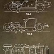 Vintage Corvette Patent Poster