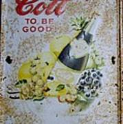 Vintage Cott Fruit Juice Sign Poster