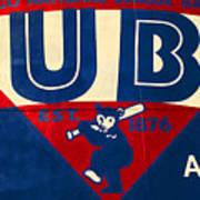 Vintage Cubs Spring Training Sign Poster